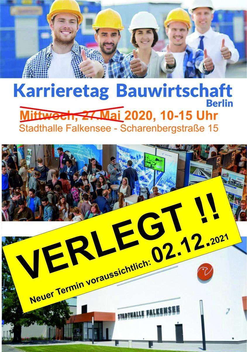 ABGESAGT - Karrieretag Bauwirtschaft Berlin/Brandenburg