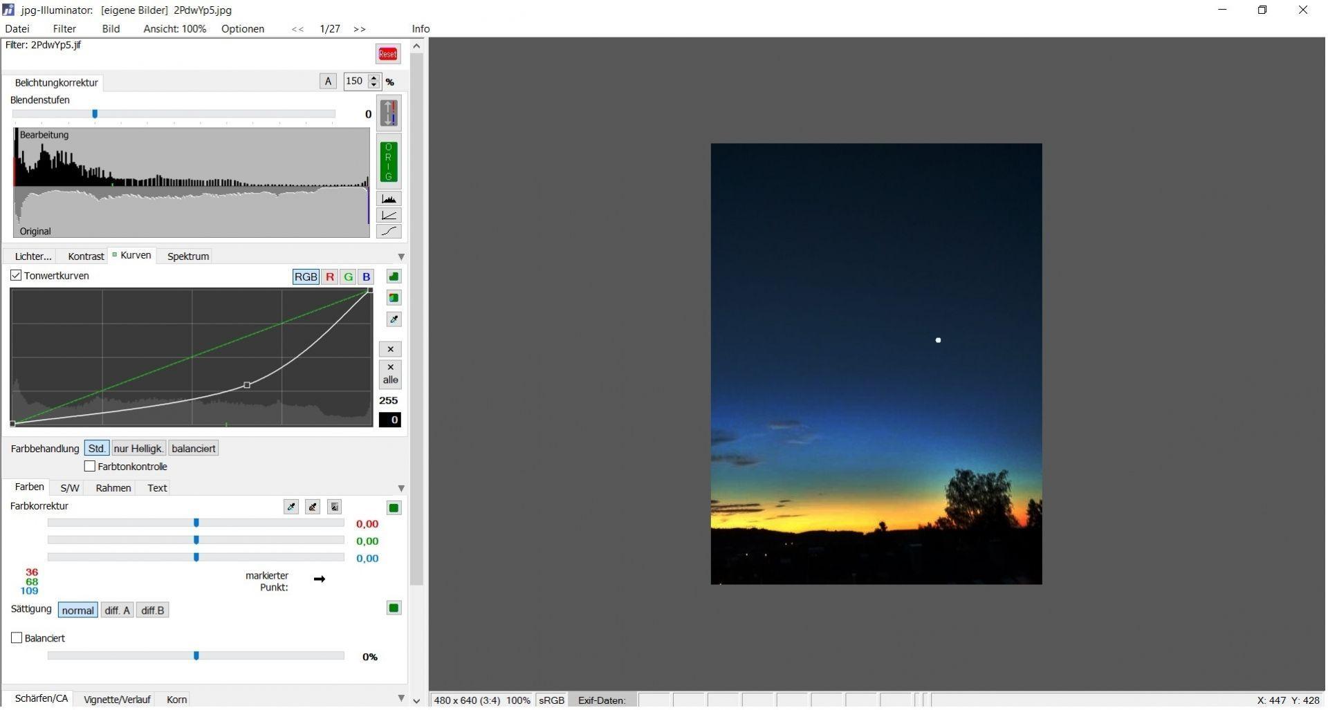 Bild: Morgenhimmel mit Venus